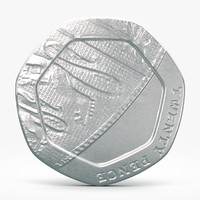 3d c4d pence coin 20