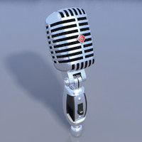shure microphone 3d model