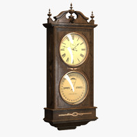 3d model decorative clock