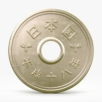 yen coin 3d model