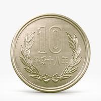 3d yen coin