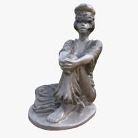 3d model valentina statue guido crepax