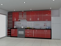 red realistic 3d max