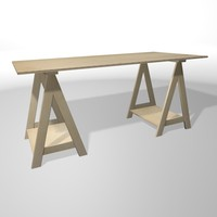 3d work table model