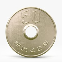 3ds max fifty yen coin