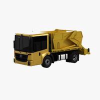 skip loader truck 3d max