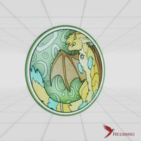 3dsmax stained glass dragon