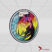 stained glass magic animal 3d model