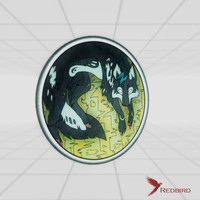 stained glass dark wolf 3d model