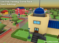 3d buildings houses town -