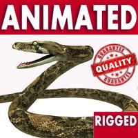 3d model reptile snake