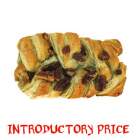 pecan maple danish pastry 3d max