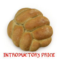 plaited bread roll 3ds