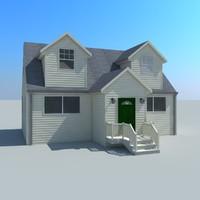 american cottage modelled 3d model