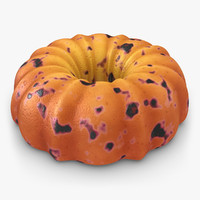 3d realistic pumpkin buttermilk cake model