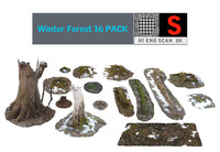 Winter Forest 16 PACK