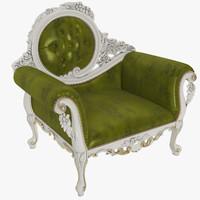 armchair chair modenese 3d model