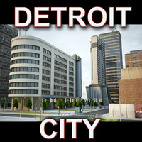 detroit city buildings 3ds