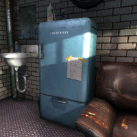 vintage fridge 3d max