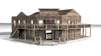 old west saloon 3d max