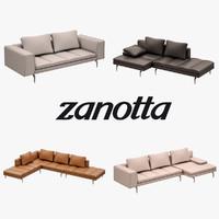 bruce sofa set 3d model