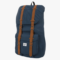 3d model backpack 8 blue