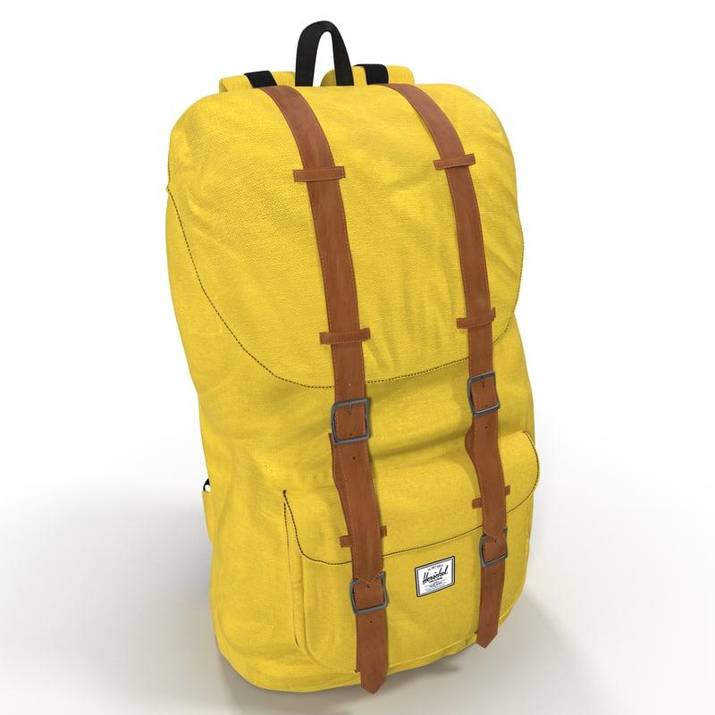 Backpack Yellow 3d model 01.jpg