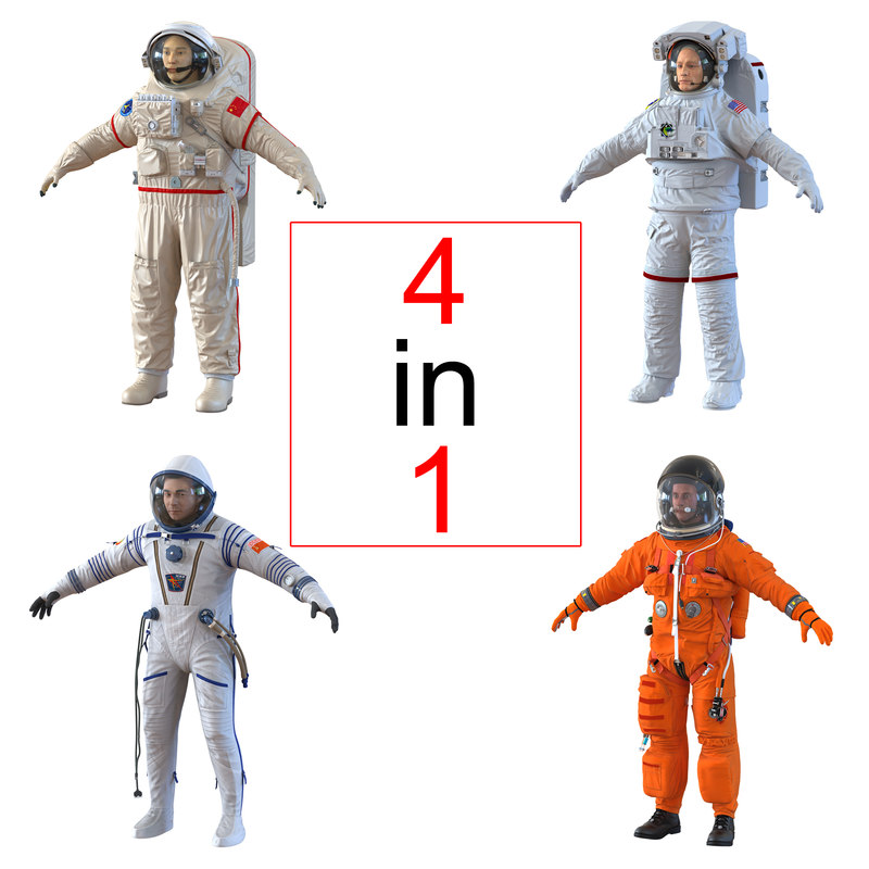Astronauts Collection 3d models 00.jpg