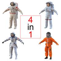 3d astronauts crew escape
