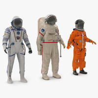 3d max space suits rigged