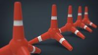 3d police cone model