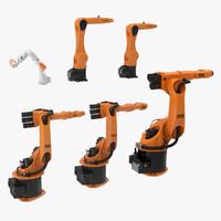 kuka robots rigged 3d max