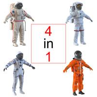 space suits 3d 3ds