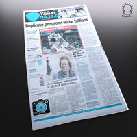 new newspaper 3d max