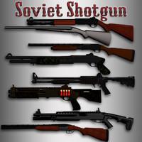 3d model shotgun pack hands