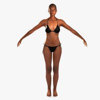 african american woman realistic 3d ma