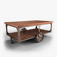 rustic cocktail table 3d max