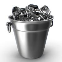 3d bucket ice model