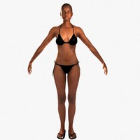 3d african american woman rigged