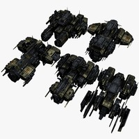 3d 5 spaceship model