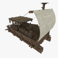 catamaran medieval merchant 3d fbx