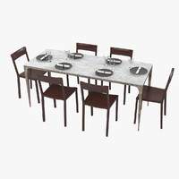 Ochre Whippet Dining Table & Chairs Set