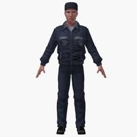3d max police man