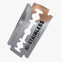 3ds max razor blade
