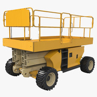 3d model engine powered scissor lift