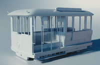 trolley cable cars 3d obj