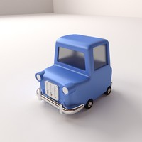 cartoon car 3ds