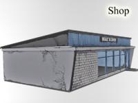 3d model deserted shop