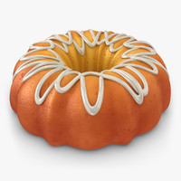 3d model realistic pumpkin buttermilk cake