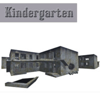 3ds max kindergarten building